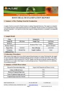Root Health Report