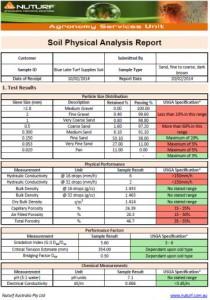 USGA Physical Report